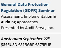 General Data Protection Regulation Seminar